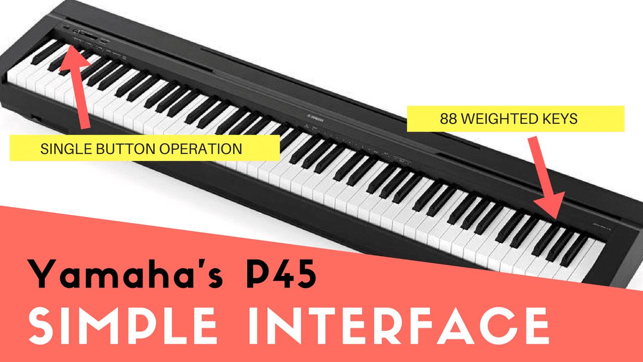 biểu cảm phiến Piano điện Yamaha P45