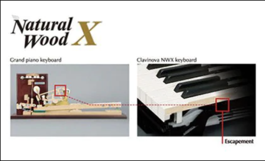 Natural Wood X Keyboard Piano điện Yamaha CLP535