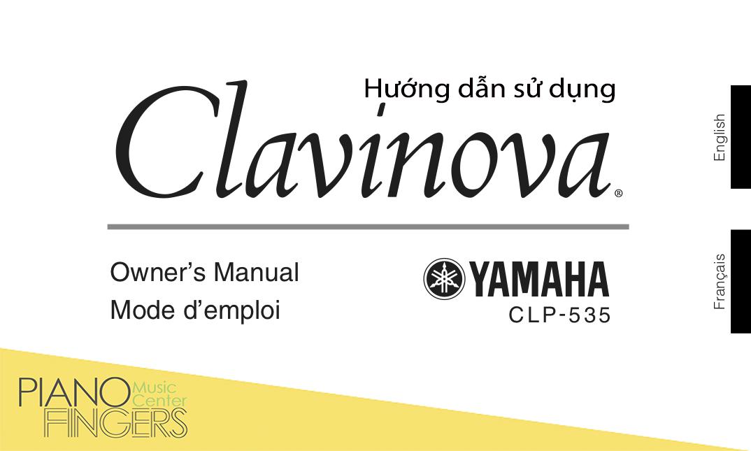 Hướng dẫn sử dụng Yamaha CLP-535 Manual copy copy
