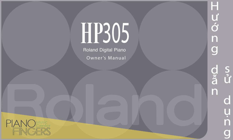 hướng dẫn sử hướng dẫn sử dụng roland hp-305 manual-6