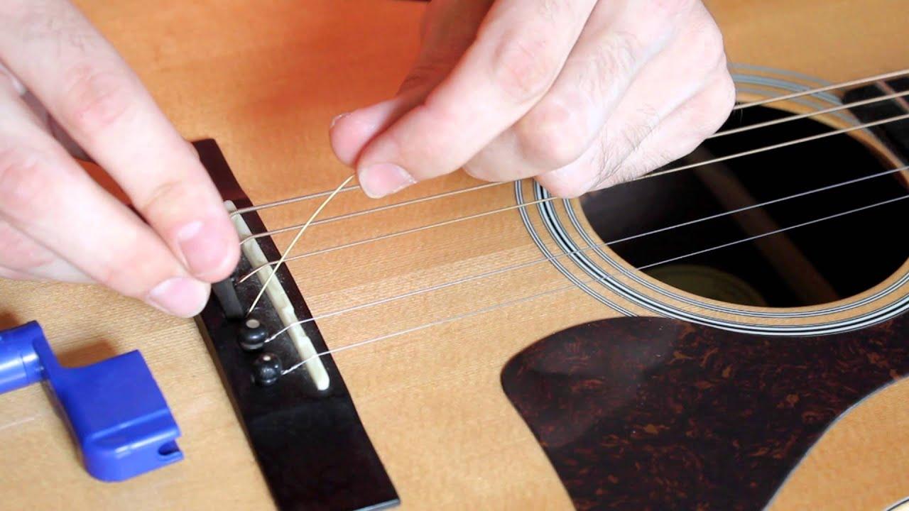 hướng dẫn thay dây đàn guitar