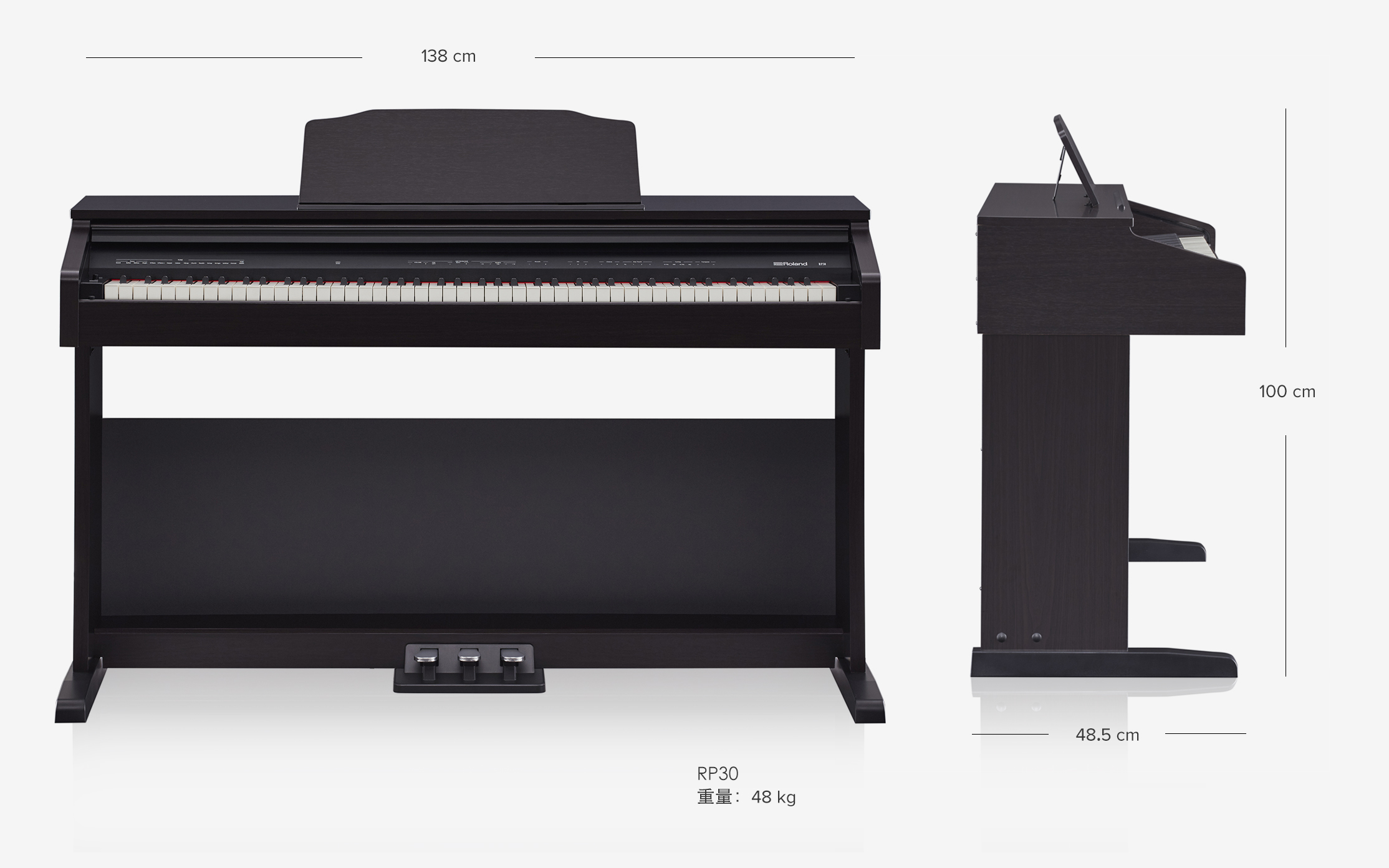 piano điện roland rp-30 3