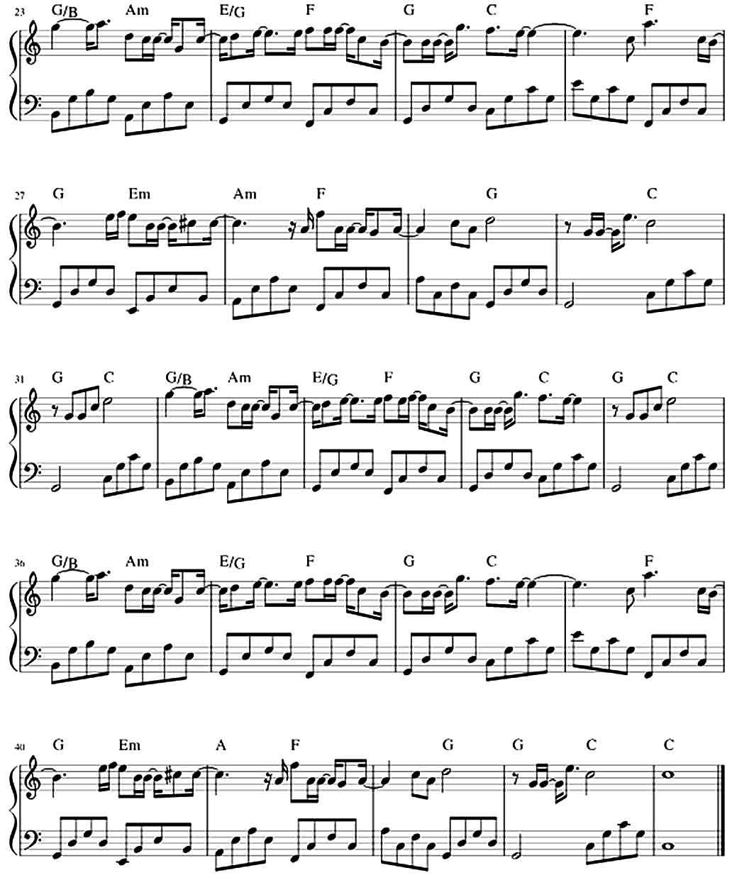 sheet piano Lạ Lùng